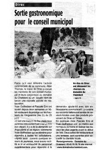 Article Charente Libre : Sortie Gastronomique image