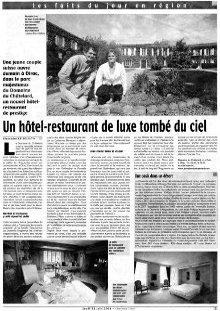 Article SUD OUEST – Nouvelle vie de Chatelard image