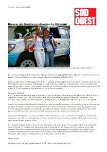 Article SUD OUEST – Rallye des Gazelles image