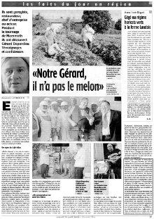 Article Charente Libre : Gérard Depardieu image